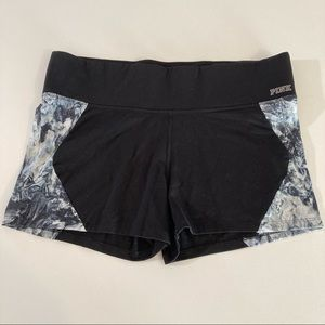 Victoria's Secret pink ultimate yoga shorts black